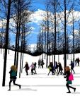 219 - Snow Scene with Schoolgirls